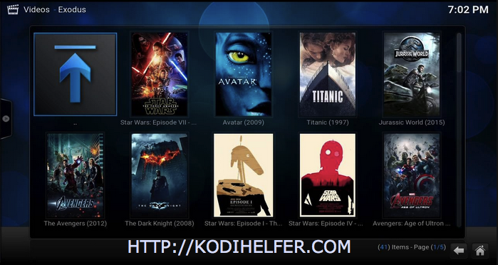 Installeer Exodus Kodi Krypton