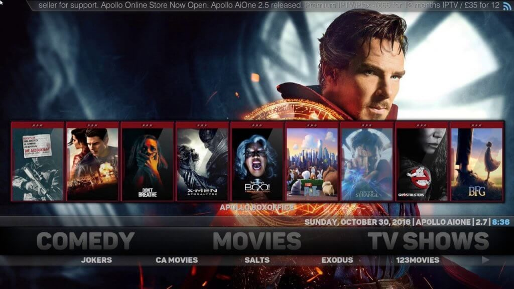 Apollo Kodi Krypton Add on