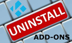 Addon uninstall in Kodi-featured