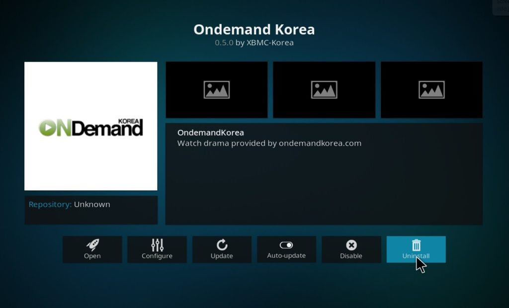 Addon uninstall in Kodi-uninstall