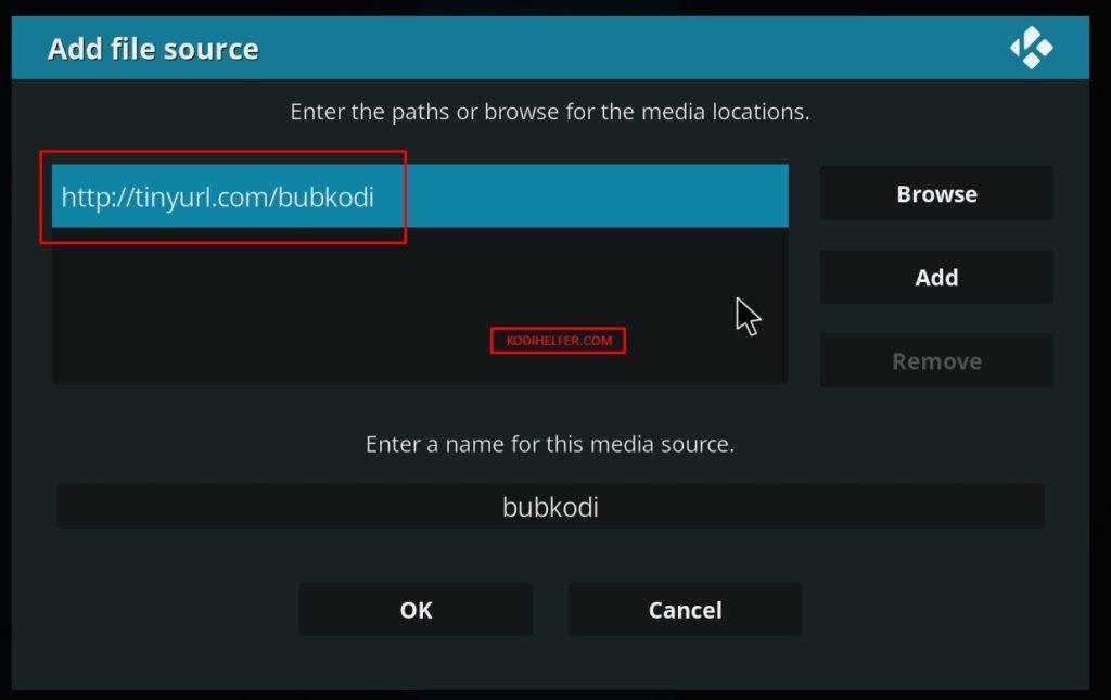 Installare Bubble Kodi Addons 1