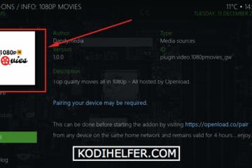Kodi 1080p Movies Addon Install