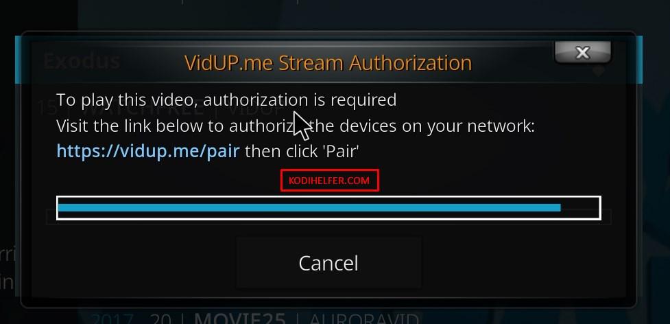 Vidup-Me-pairing-Authorization
