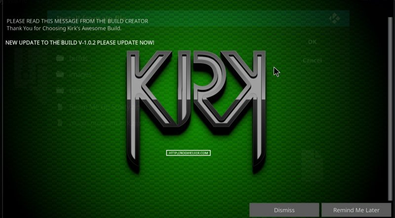 Kirk BUILT KODI BUILDINGS 2017 CODE Krypton