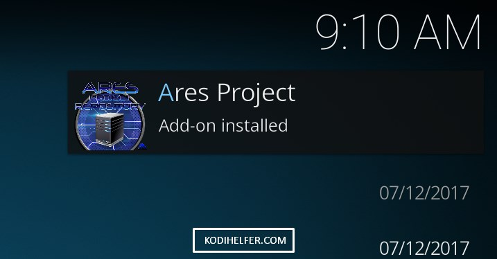 KODI BUILDS Ares project