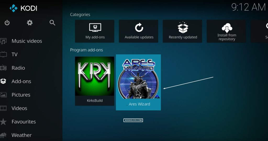Kodi Krypton Ares Build