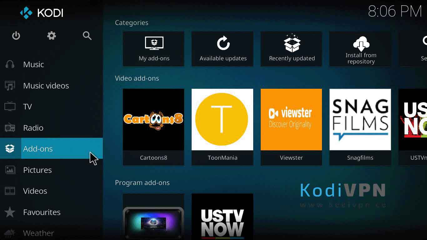 how to install atomic kodi auf jarvis version 16 o mayor