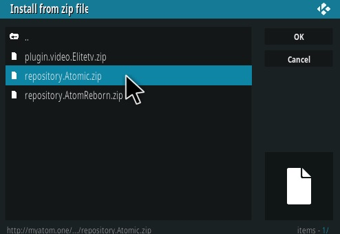 How To Install Atomic Kodi Addon