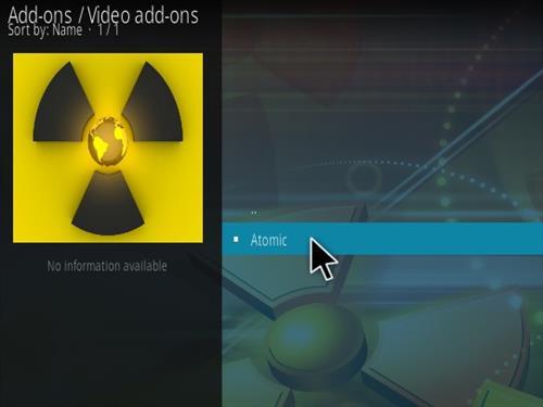 How To Install Atomic Kodi Addon