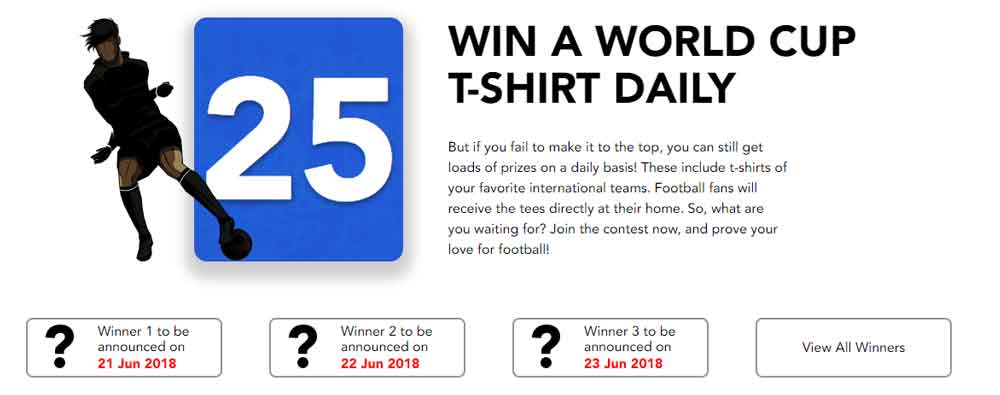 Purevpn world cup-T-shirt verschenken