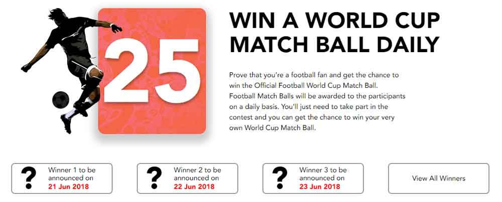 Purevpn world cup match ball verschenken